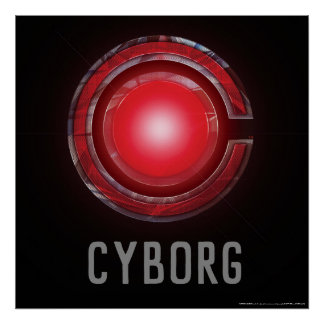 Justice League | Glowing Cyborg Symbol Poster