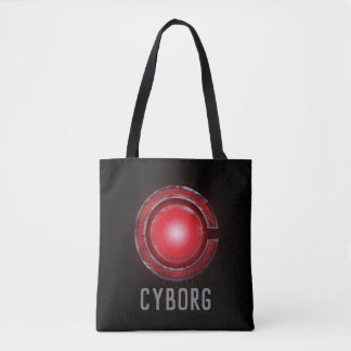 Justice League | Glowing Cyborg Symbol Tote Bag