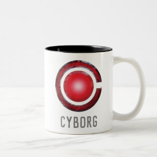 Justice League | Glowing Cyborg Symbol Two-Tone Coffee Mug