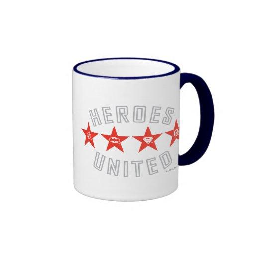 Justice League Heroes Untied Logos Coffee Mug