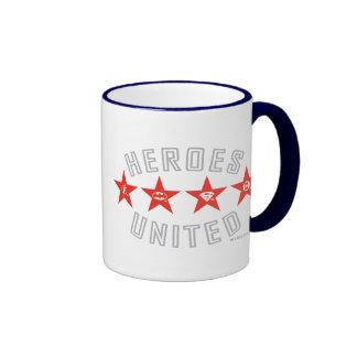 Justice League Heroes Untied Logos Ringer Mug