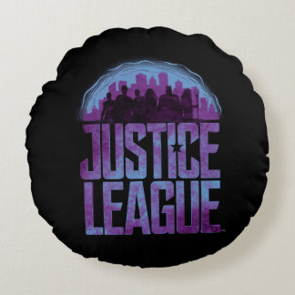 Justice League | Justice League City Silhouette Round Cushion