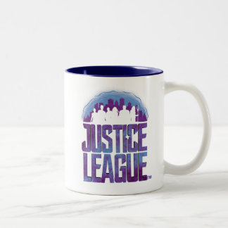 Justice League | Justice League City Silhouette Two-Tone Coffee Mug