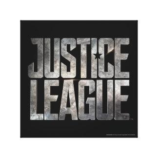 Justice League | Justice League Metallic Logo Canvas Print