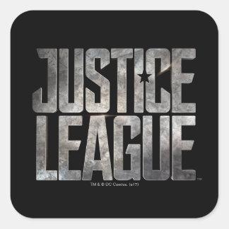 Justice League | Justice League Metallic Logo Square Sticker