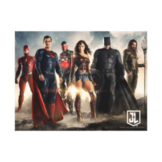 Justice League | Justice League On Battlefield Canvas Print