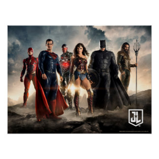 Justice League | Justice League On Battlefield Poster