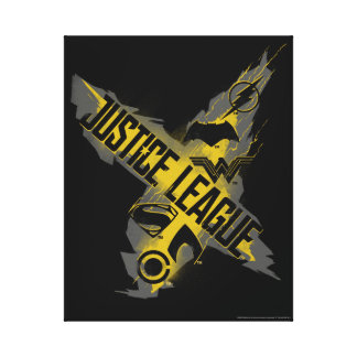 Justice League | Justice League & Team Symbols Canvas Print