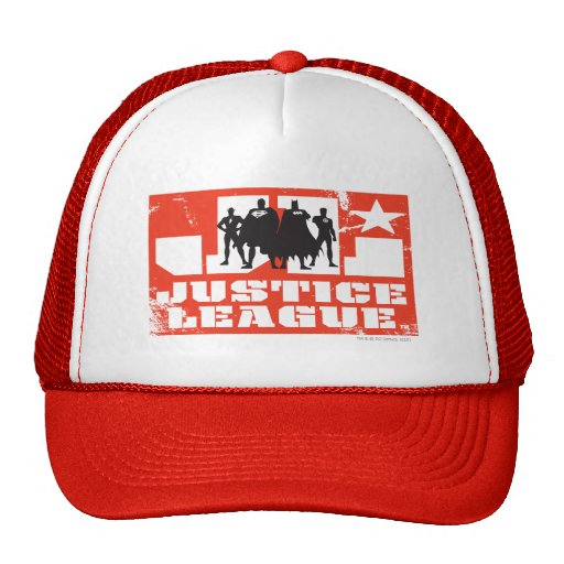 Justice League Logo and Character Silhouettes Hat