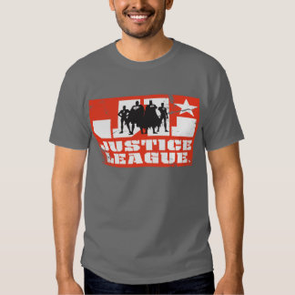 Justice League Logo and Character Silhouettes T-shirts