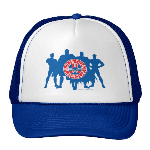 Justice League Logo and Solid Character Background Trucker Hat