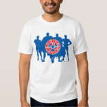 Justice League Logo and Solid Character Background T-Shirt