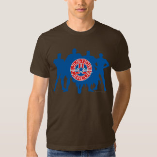 Justice League Logo and Solid Character Background Tshirt