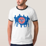 Justice League Logo and Solid Character Background Tshirts