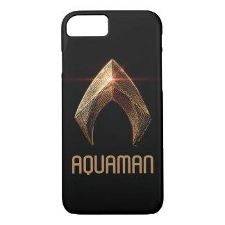 Justice League | Metallic Aquaman Symbol iPhone 8/7 Case