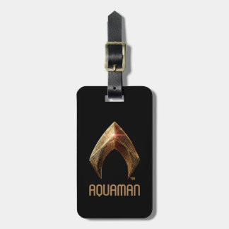 Justice League | Metallic Aquaman Symbol Luggage Tag