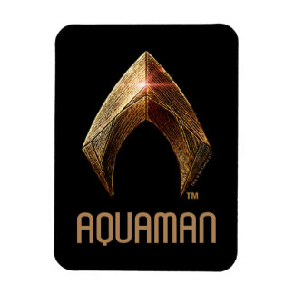 Justice League | Metallic Aquaman Symbol Magnet