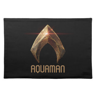 Justice League | Metallic Aquaman Symbol Placemat
