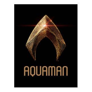 Justice League | Metallic Aquaman Symbol Postcard