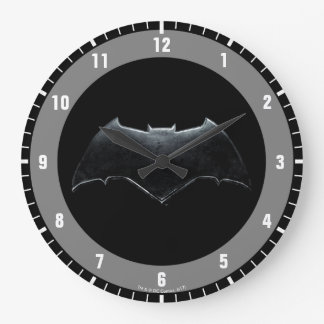 Justice League | Metallic Batman Symbol Large Clock