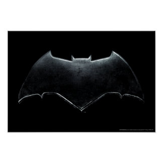 Justice League | Metallic Batman Symbol Poster