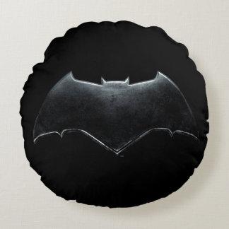 Justice League   Metallic Batman Symbol Round Cushion