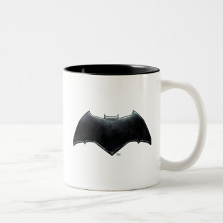 Justice League | Metallic Batman Symbol Two-Tone Coffee Mug