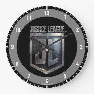 Justice League   Metallic JL Shield Large Clock
