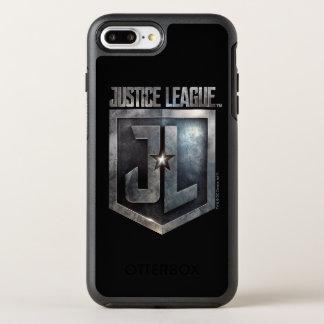 Justice League | Metallic JL Shield OtterBox Symmetry iPhone 8 Plus/7 Plus Case