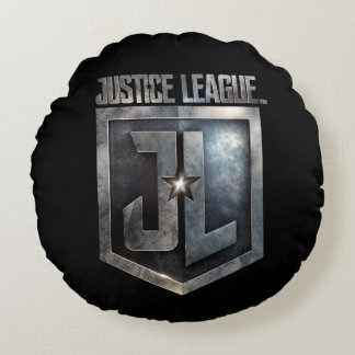 Justice League | Metallic JL Shield Round Cushion