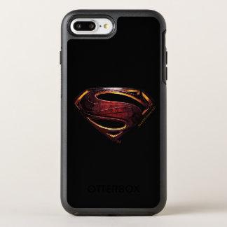 Justice League | Metallic Superman Symbol OtterBox Symmetry iPhone 8 Plus/7 Plus Case