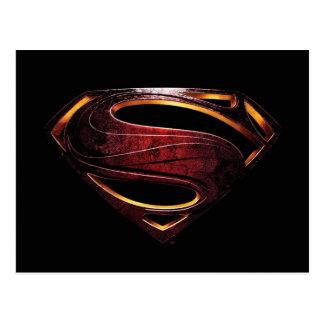 Justice League | Metallic Superman Symbol Postcard