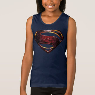 Justice League | Metallic Superman Symbol Singlet