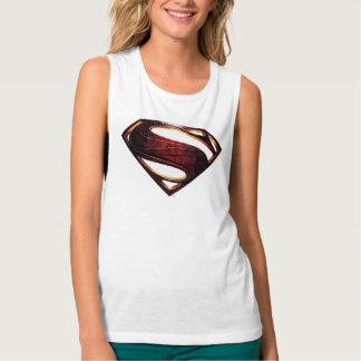 Justice League   Metallic Superman Symbol Singlet