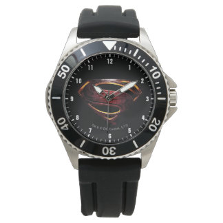 Justice League | Metallic Superman Symbol Watch