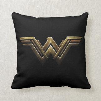 Justice League | Metallic Wonder Woman Symbol Cushion