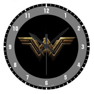 Justice League   Metallic Wonder Woman Symbol Large Clock