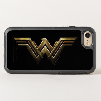 Justice League | Metallic Wonder Woman Symbol OtterBox Symmetry iPhone 8/7 Case