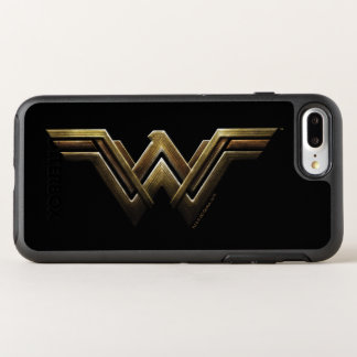 Justice League | Metallic Wonder Woman Symbol OtterBox Symmetry iPhone 8 Plus/7 Plus Case