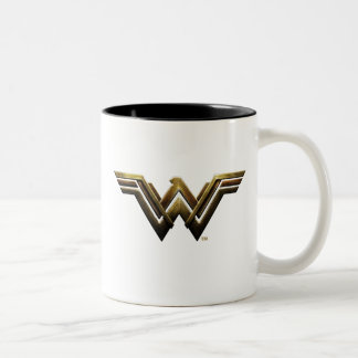 Justice League | Metallic Wonder Woman Symbol Two-Tone Coffee Mug
