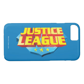 Justice League Name and Shield Logo iPhone 7 Case