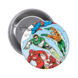 Justice League of America Group 3 6 Cm Round Badge