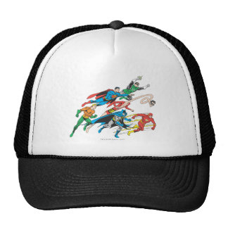 Justice League of America Group 5 Mesh Hat