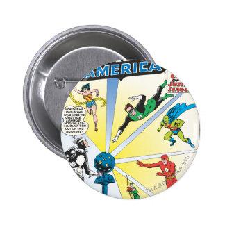 Justice League of America Issue #12 - June 6 Cm Round Badge