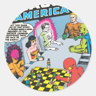 Justice League of America Issue #1 - Nov Round Sticker