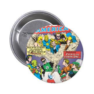 Justice League of America Issue #21 - Aug 6 Cm Round Badge