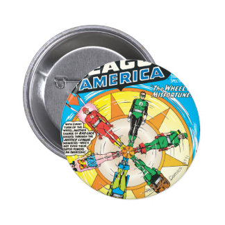Justice League of America Issue #6 - Sept 6 Cm Round Badge