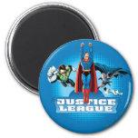 Justice League Power Trio 6 Cm Round Magnet