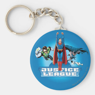 Justice League Power Trio Basic Round Button Key Ring