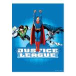 Justice League Power Trio Postcard